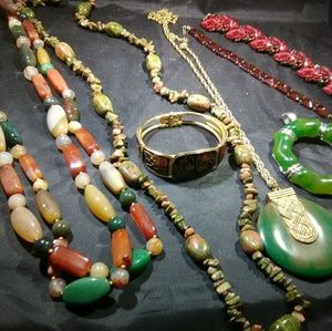 Stone jewelry lot high quality department store